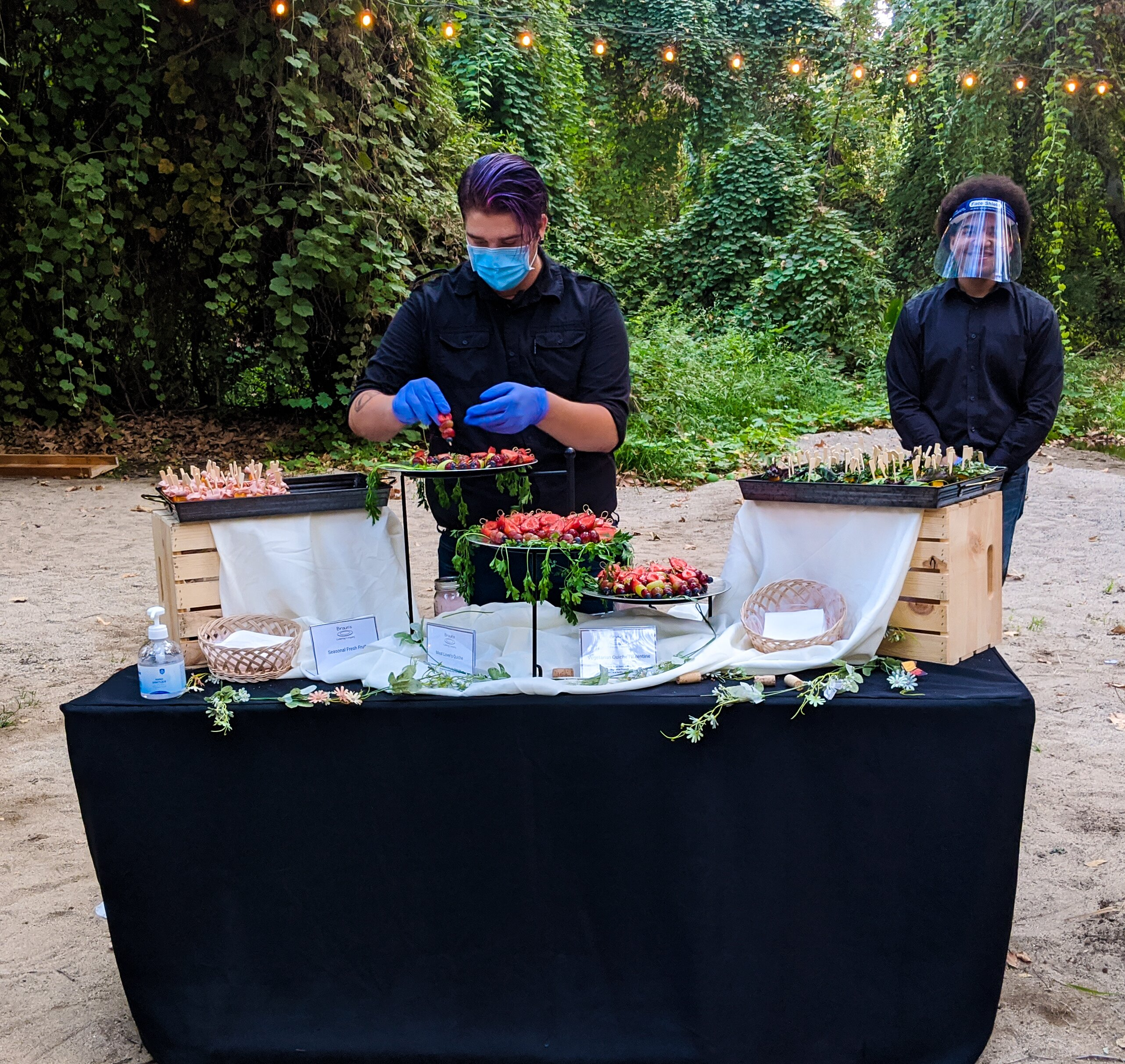 Wedding Catering Display with our Servers}